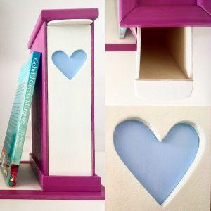 Suport pentru Cărți cu sertar pentru Semne - mov și albastru dimineață