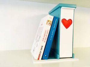 Suport pentru Cărți cu sertar pentru Semne - turcoaz și roșu aprins