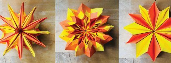 Origami Kaleidoscop din Hartie
