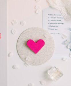 Broșă #CuInimaLaPurtător - Roz Bonbon