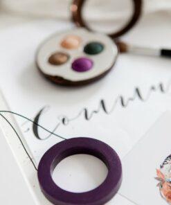 Colier ENSO ZEN - violet perlat