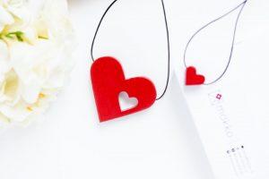 Cu Inima La Purtător - Setul pentru Mamă și Copil - Roșu Intens