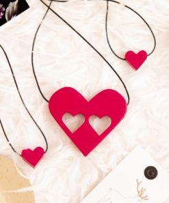 #CuInimaLaPurtăto - Setul pentru Mamă și Copii - Roz Magenta