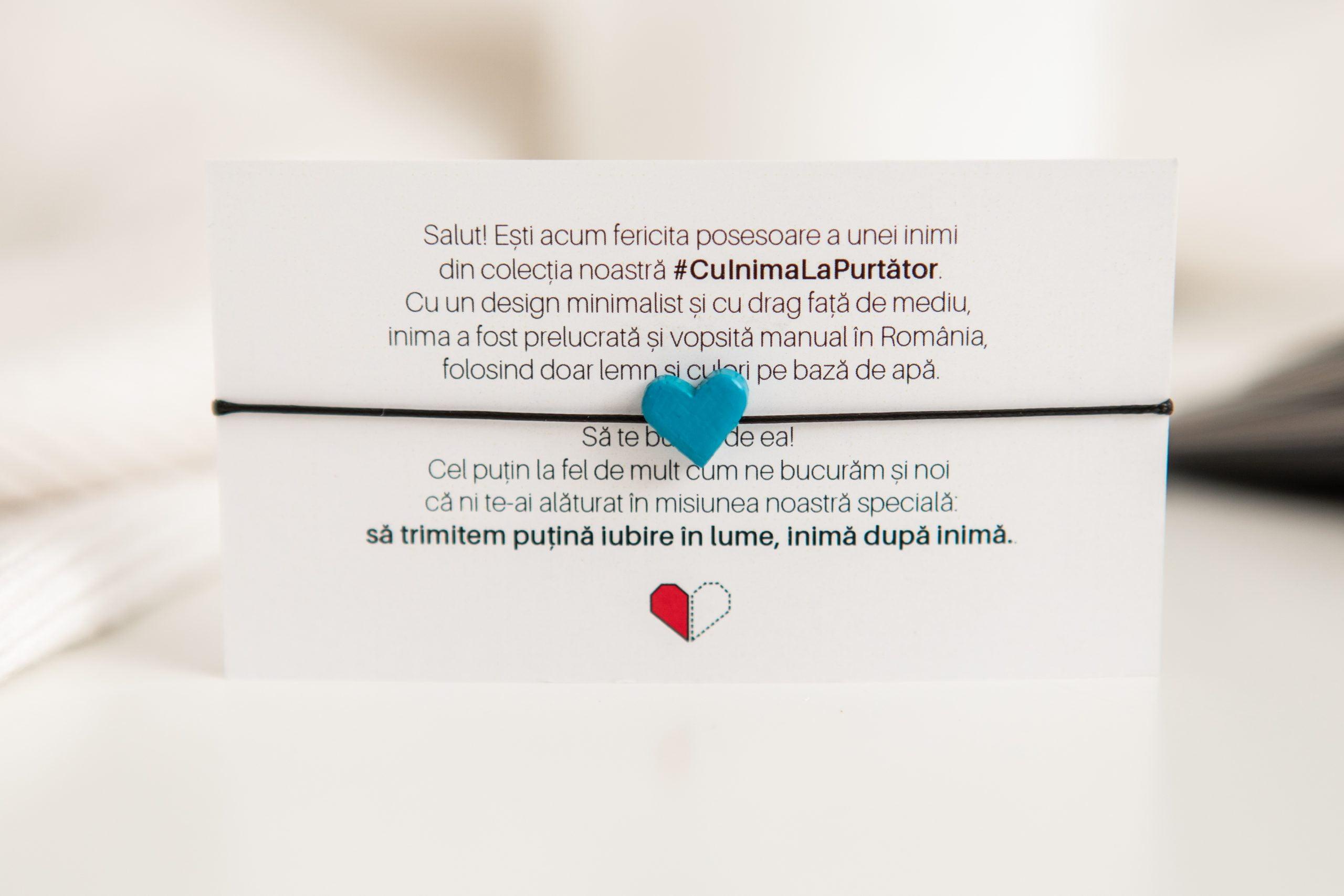 Brățară #CuInimaLaPurtător - Albastru Caraibe