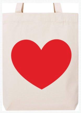 Mokko tote bag - Inimă mare