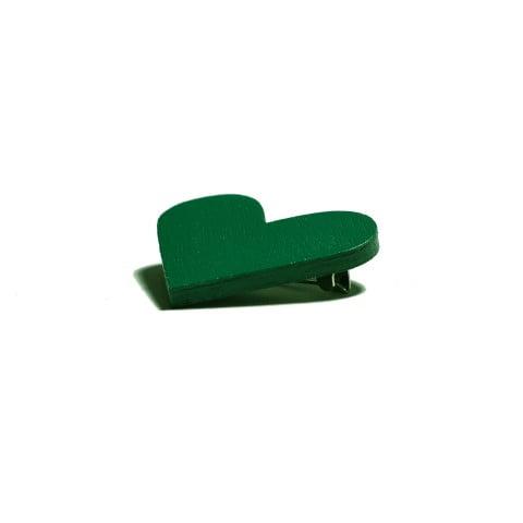 Broșă #CuInimaLaPurtător - Verde Smarald